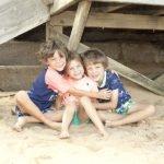 Tales of a Twin Mum's kids on a beach