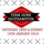 Route and times: Southampton to Worthing leg of the #TeamHonkRelay, 18 & 19 Jan 2014