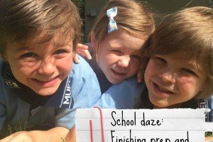 Three kids - finishing prep and moving up to grade one