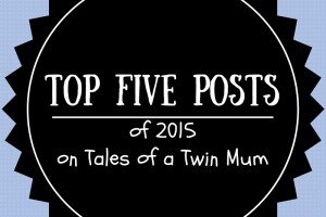 Top five posts badge for TalesofaTwinMum