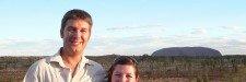 Couple in front of Uluru - Smart Steps to Australia