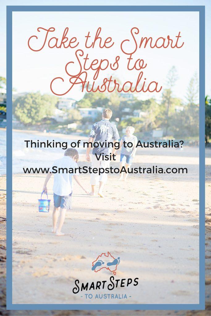 Pinterest image about emigrating to Australia - take the Smart Steps to Australia