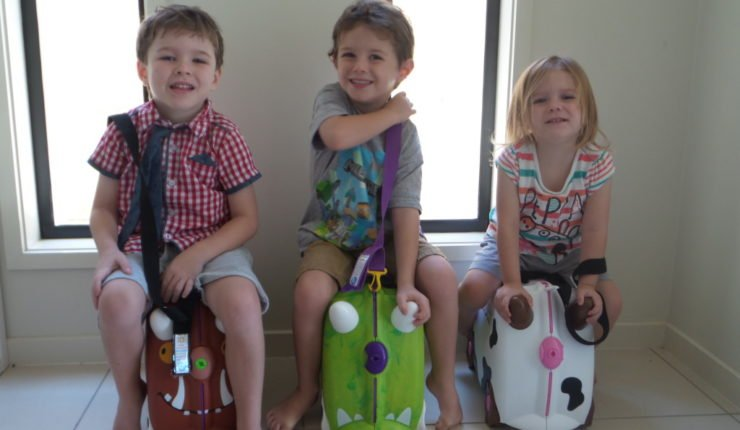 How NOT to travel with kids and a giant mountain of travel luggage