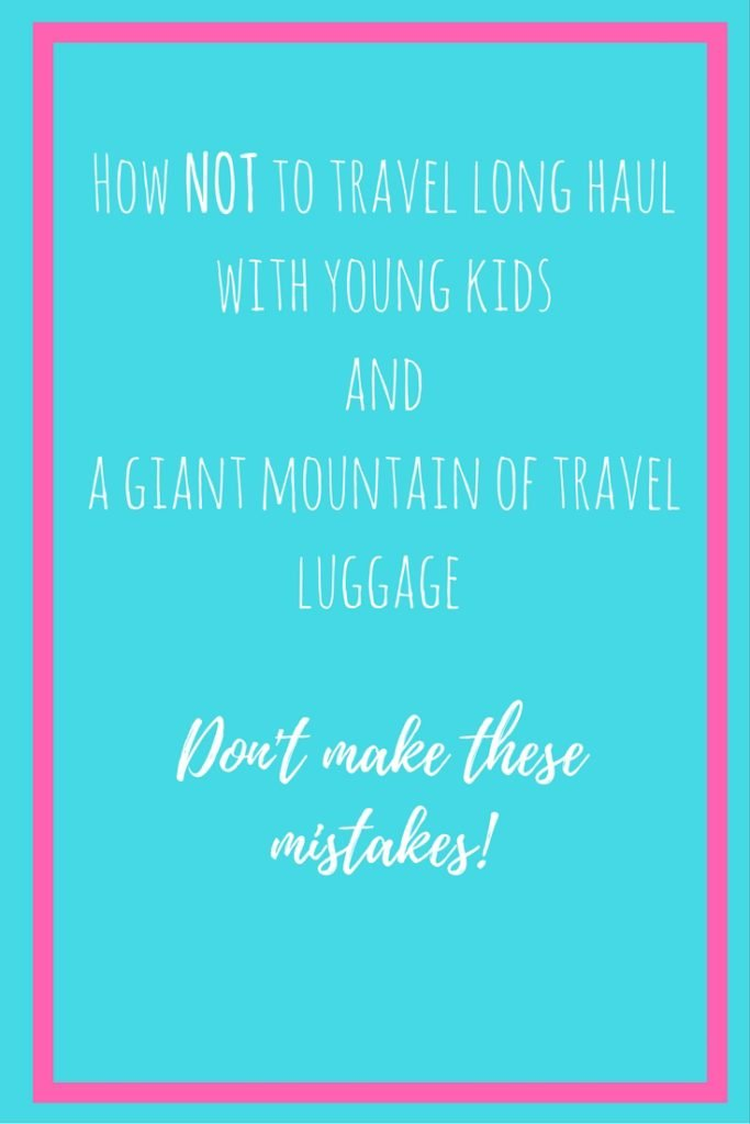 Pinterest image about travel with kids long haul
