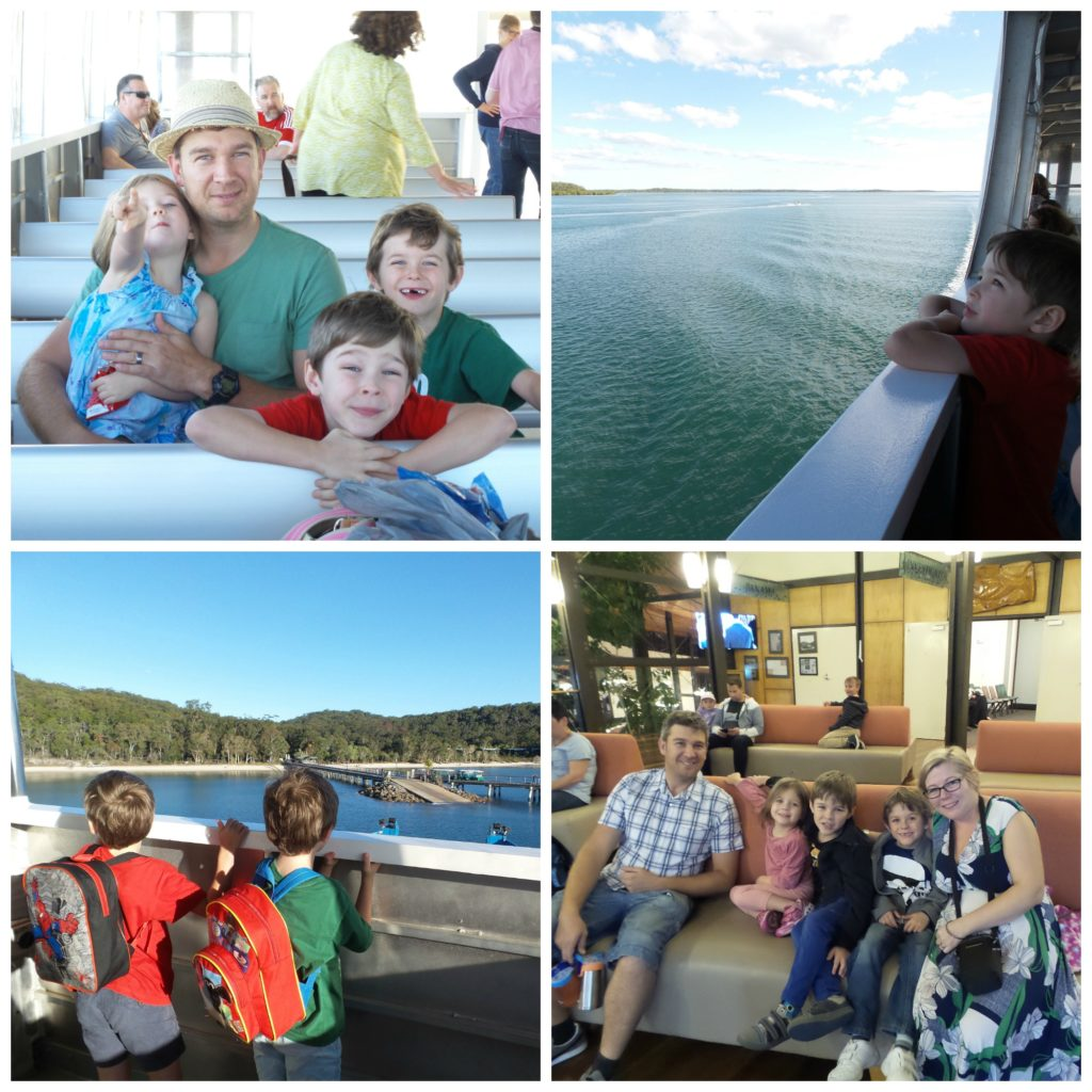 Collage of family pics - Fraser Island for families